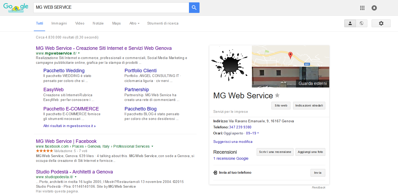 MG WEB SERVICE - google my business